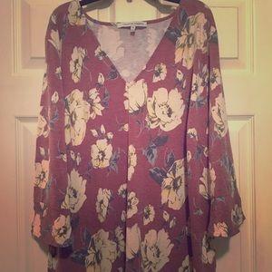 Floral knit top